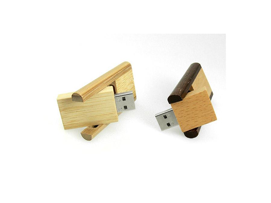 ökologischer Holz USB Stick mit Logo bedrucken