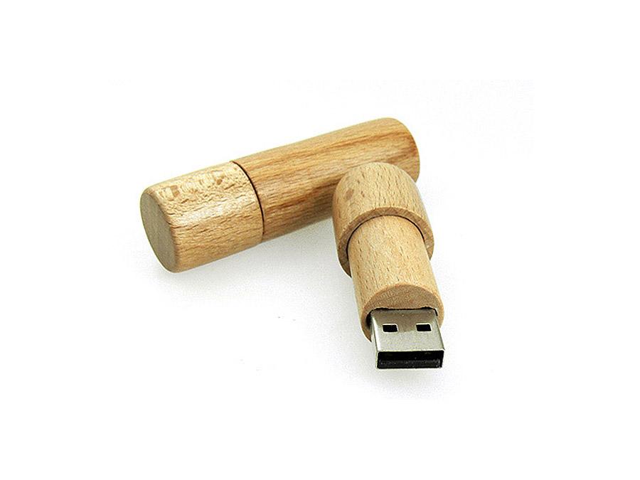 Ökologischer USB-Stick aus Holz mit Deckel