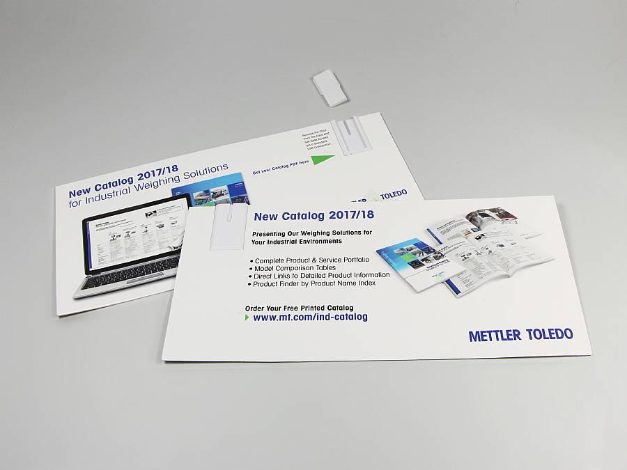 paper usb mailingcard beidseitig bedruckt