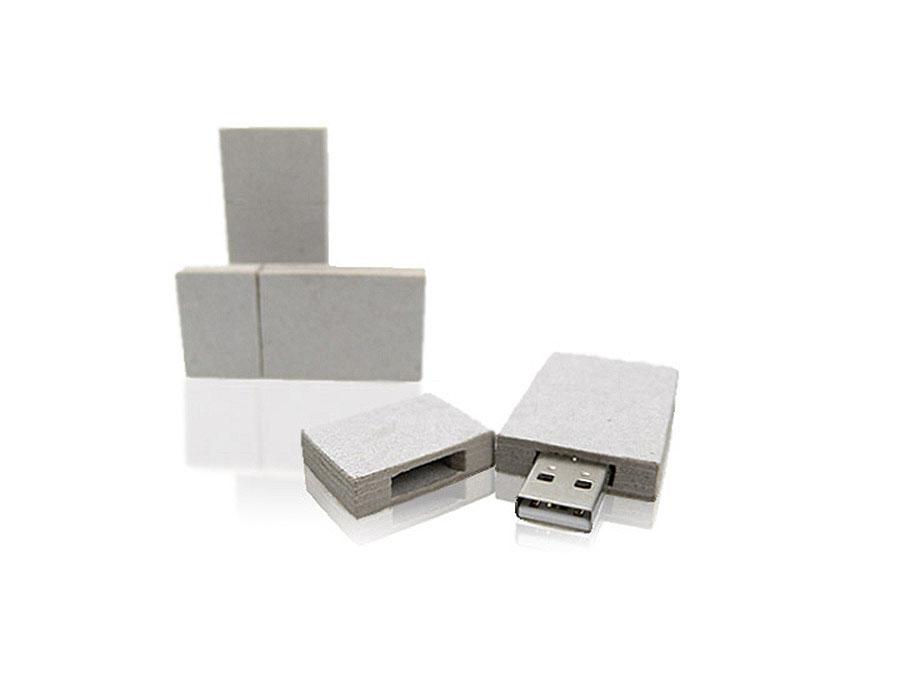 USB-Stick aus Pappe mit Logo als Werbegeschenk
