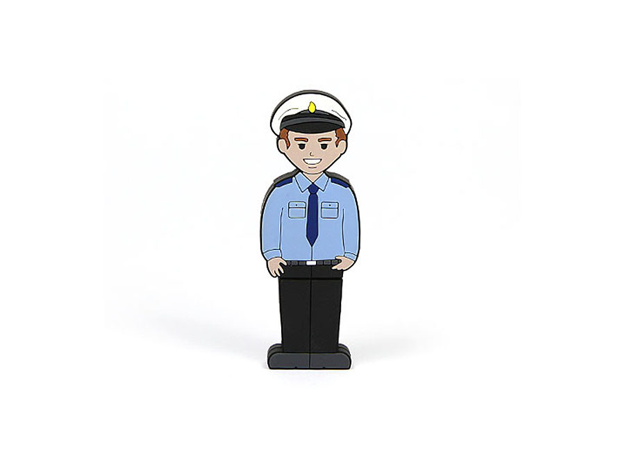 USB Stick Polizist individualisierbar mit Logo