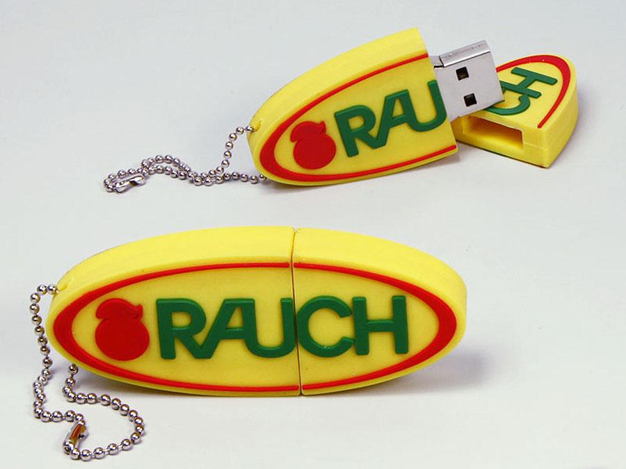 Rauch Logo USB-Stick in flacher Form als kleiner Werbeartikel