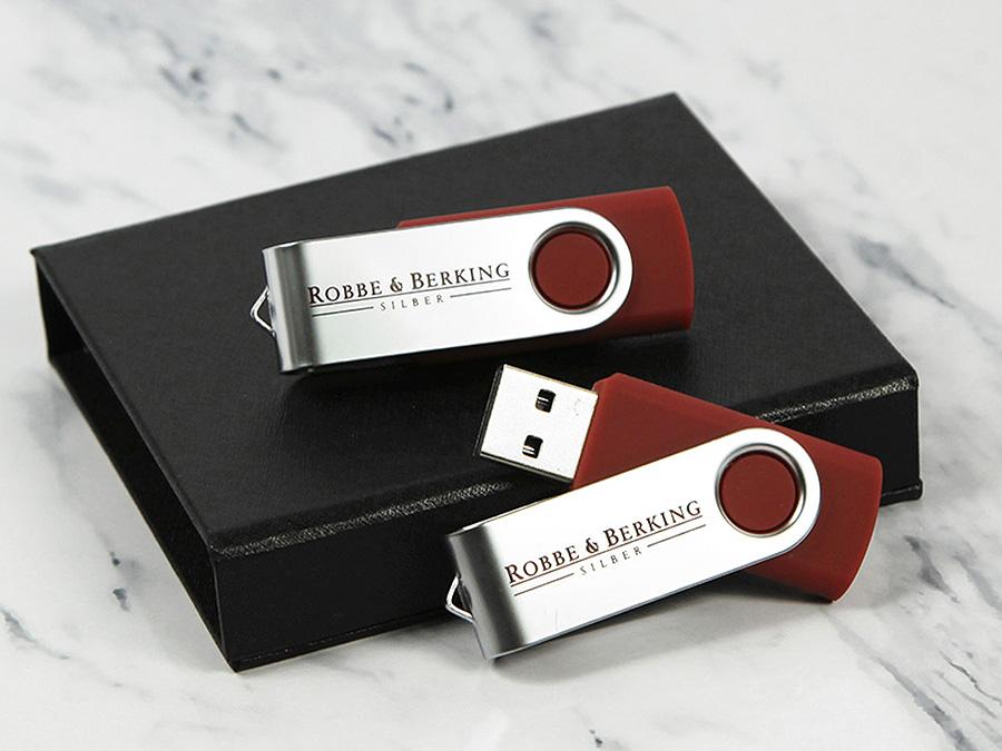 robbe berking USB Stick verpackung twister logo