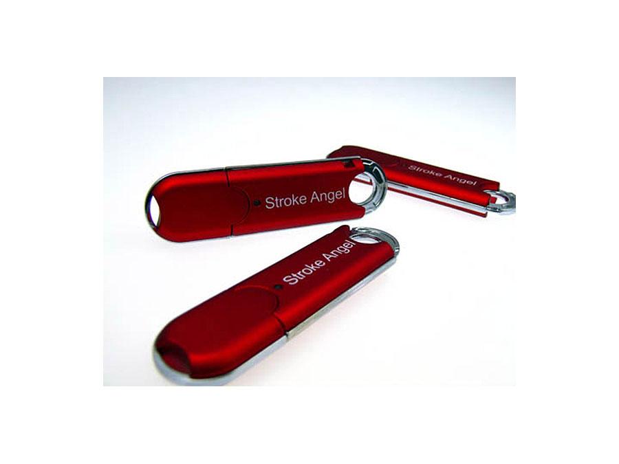 Roter Kunststoff USB Stick bedruckt Logo