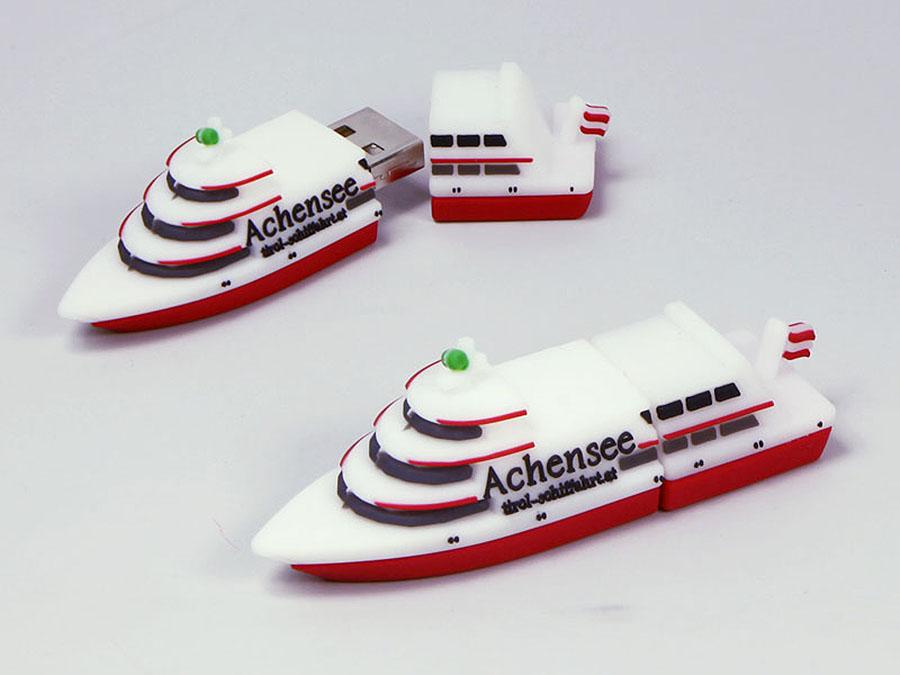 Schiff Urlaubsschiff Kreuzer mit Logo für Achensee als USB-Stick