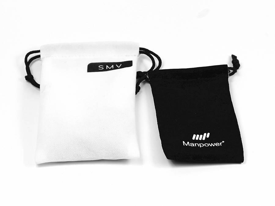 textil beutel verpackung mit logo fuer usb sticks