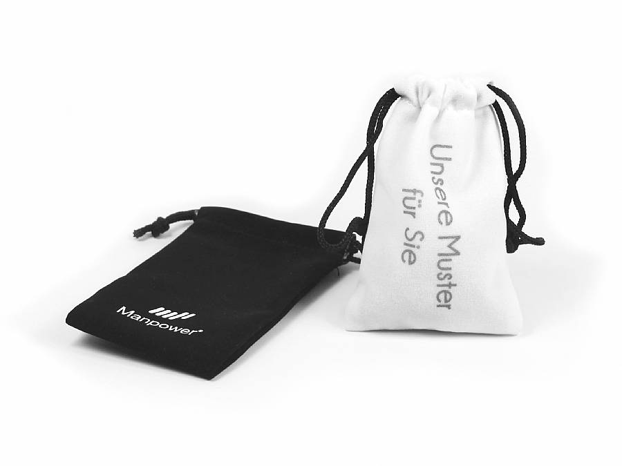 textilsäckchen logo aufdruck werbegeschenk usb sticks