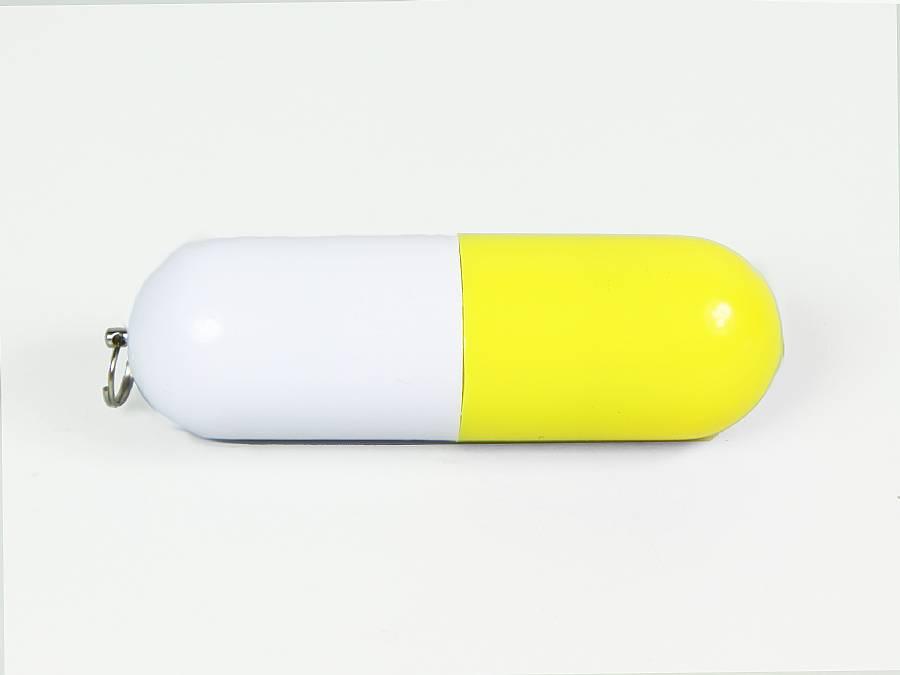 usb capsule gelb  mit logodruck