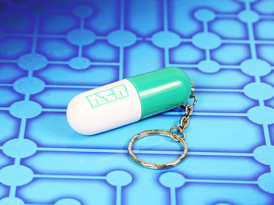 usb pille mit logodruck und schlã¼sselring