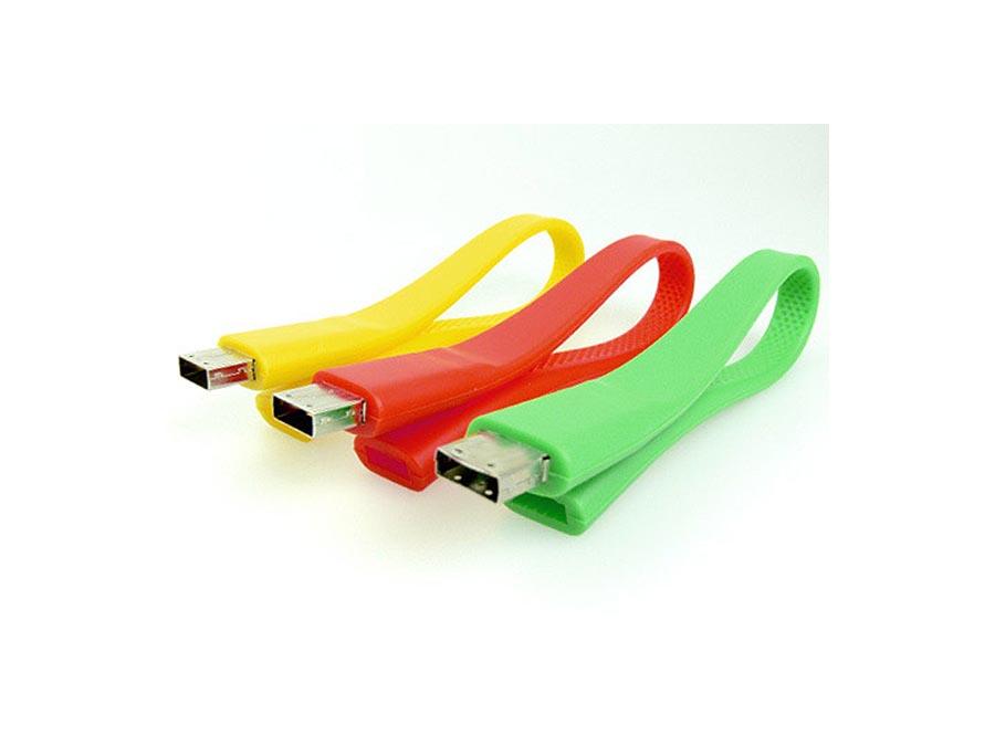 USB-Stick Armband aus Silikon in vielen Farben