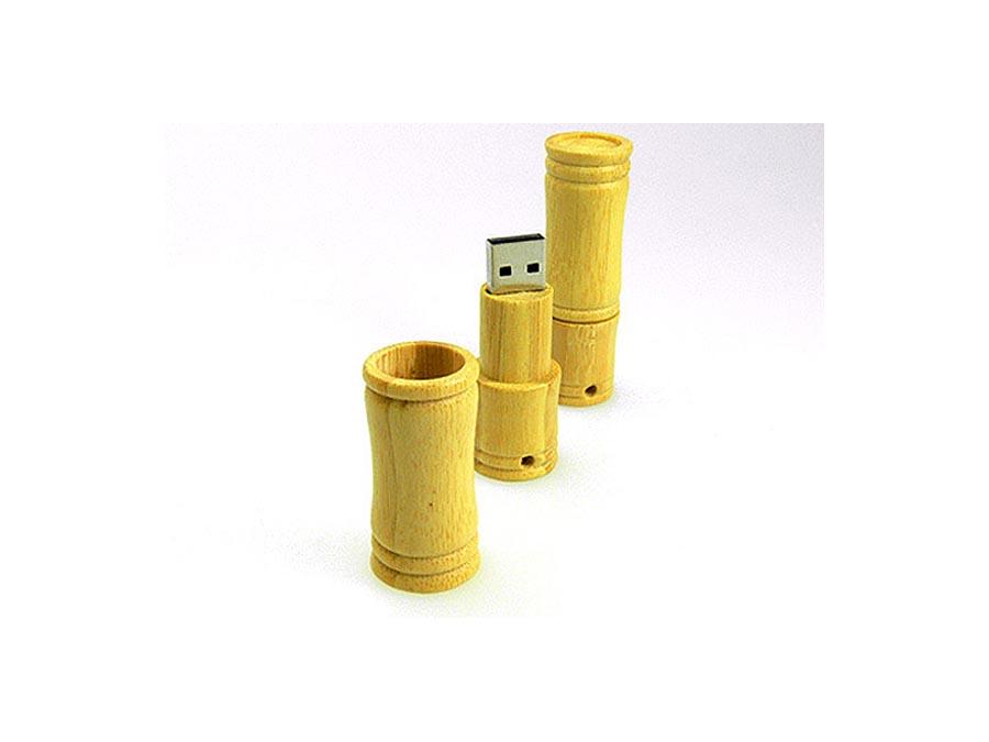 USB Stick aus Bambus mit Logo als Werbegeschenk
