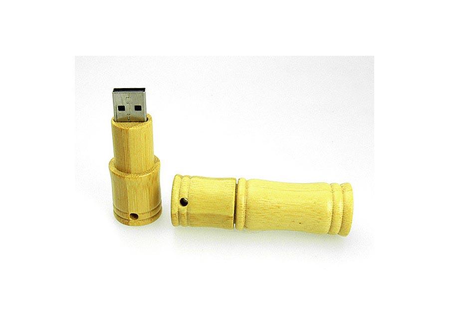 USB-Stick aus Bambus mit Logo bedrucken