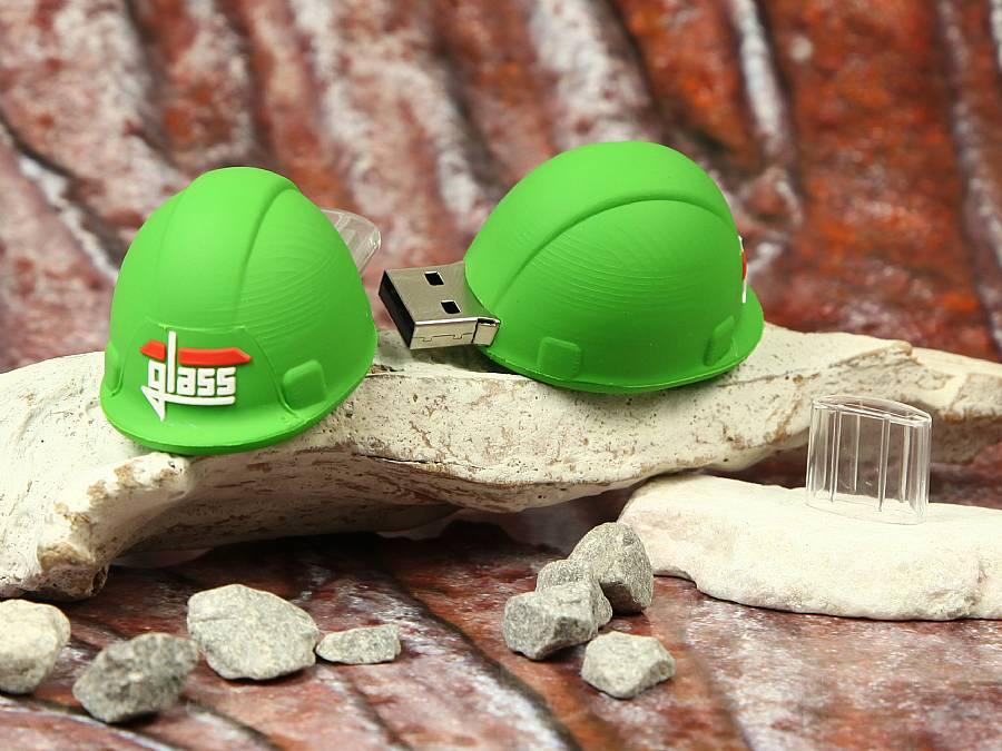usb stick helm bauhelm schutz arbeit bau