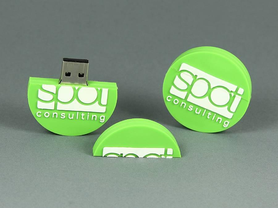 usb stick individuell logo rund werbung