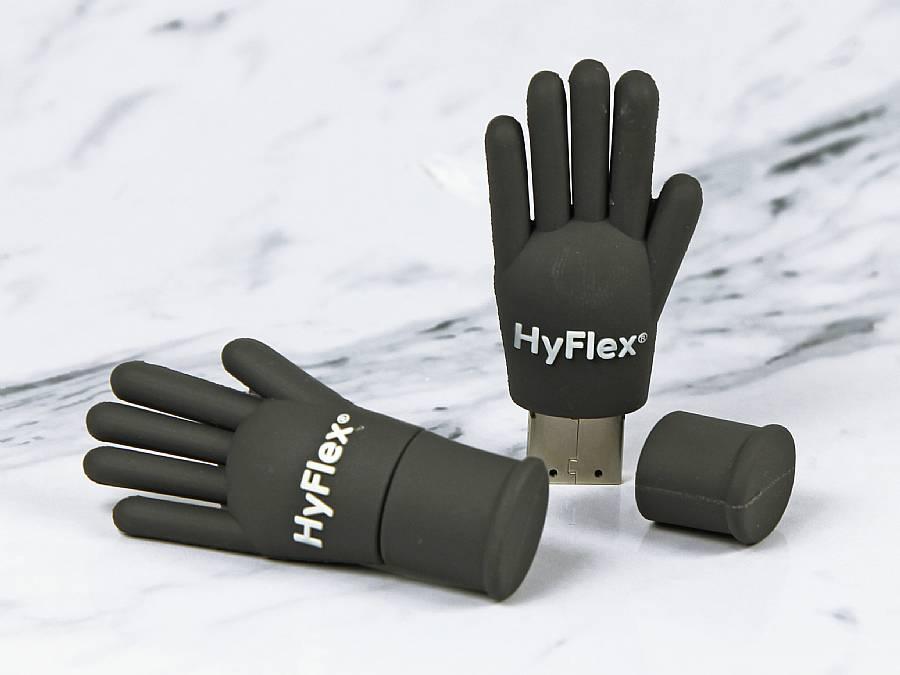 usb stick kleidung handschuh mode trend logo