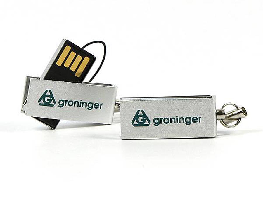 Mini USB-Stick aus Metall mit Druck