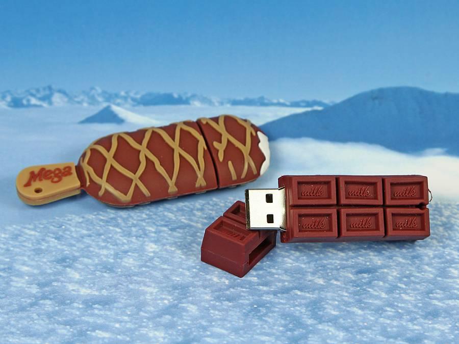 usb stick lebensmittel essen food eis schokolade genuss