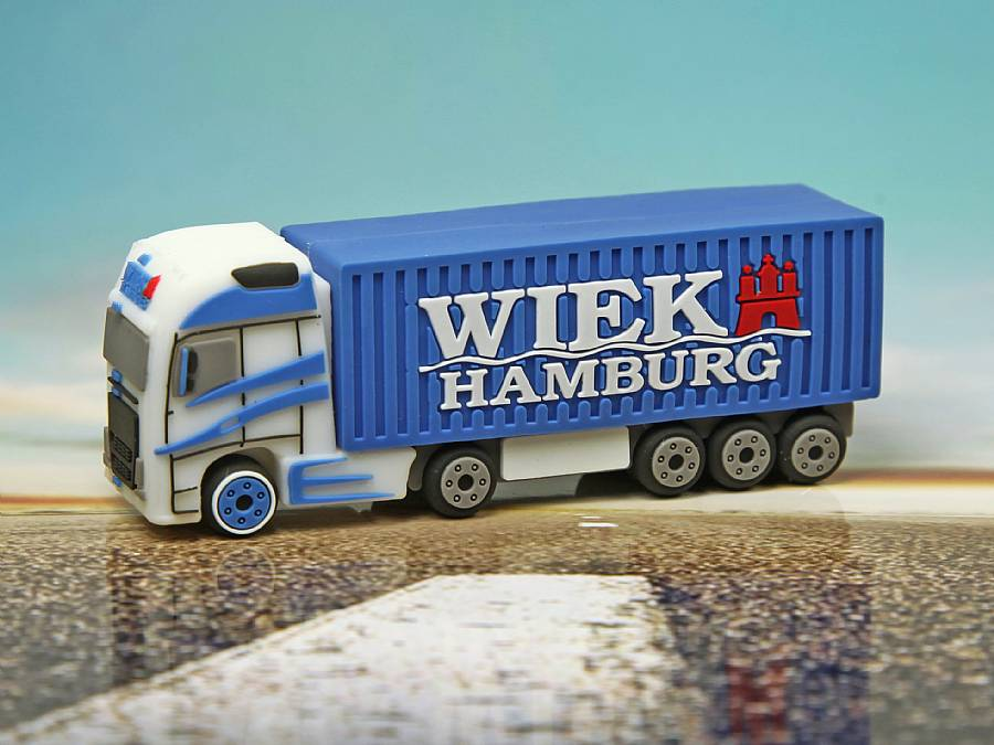 usb stick lkw logistik werbung transport strasse