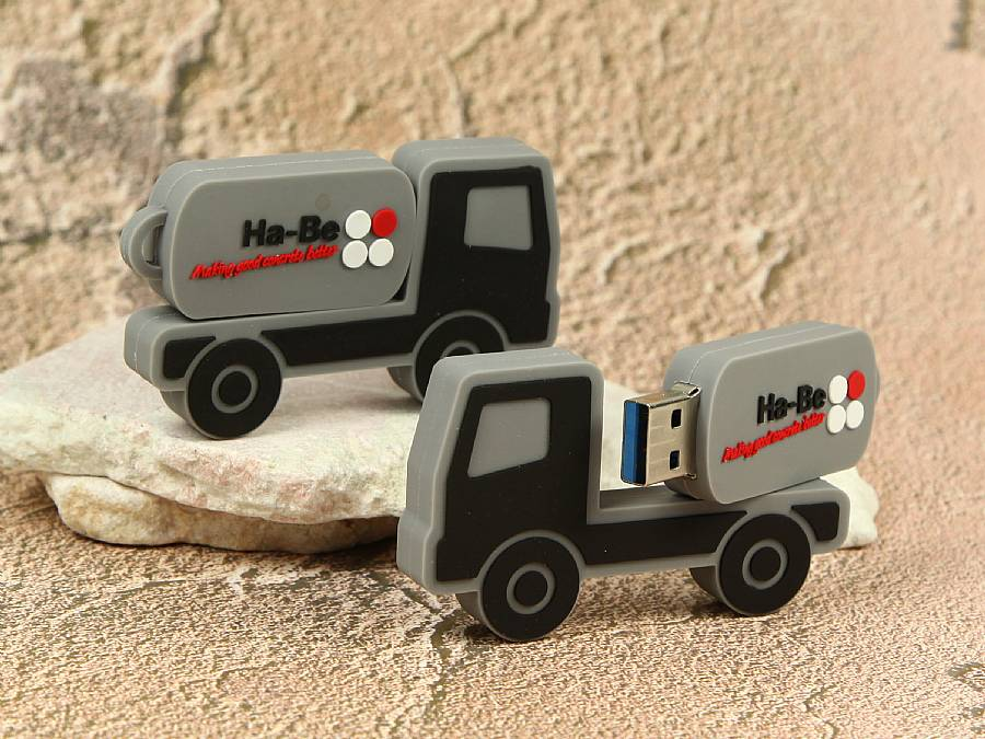 usb stick lkw transporter speed power logo