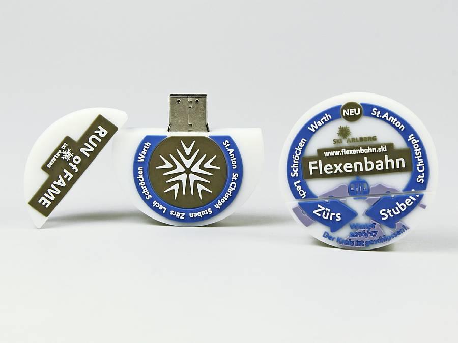 usb stick logo rund werbung firmenlogo individuell