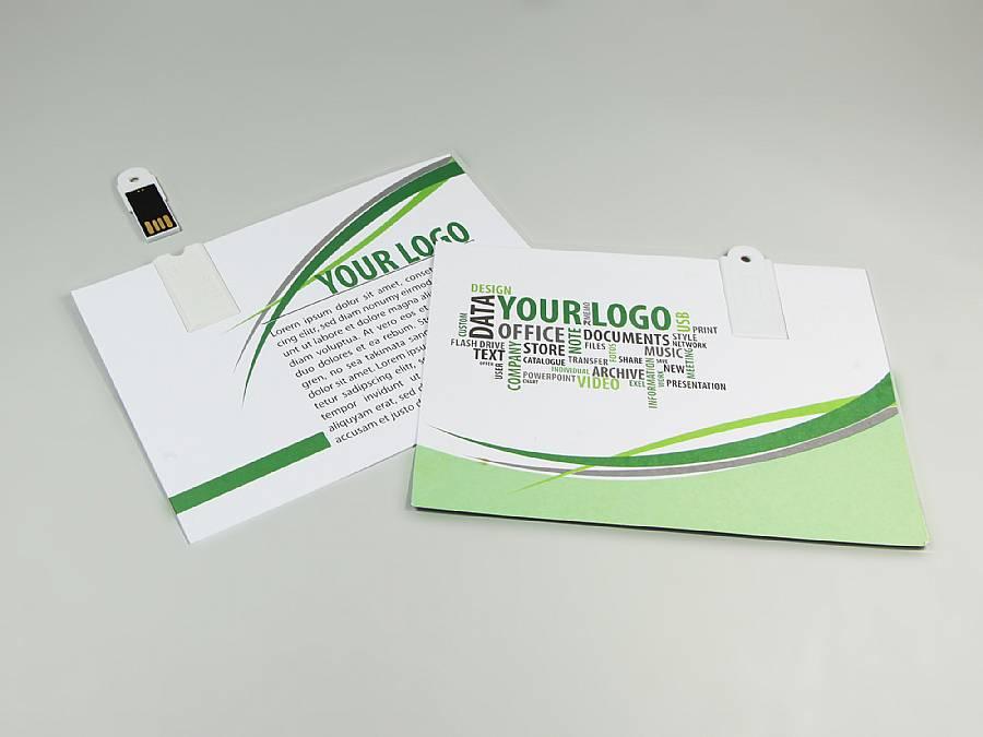 usb stick paper postkarte