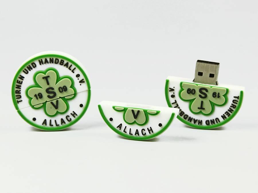 usb stick rund logo verein werbung individuell