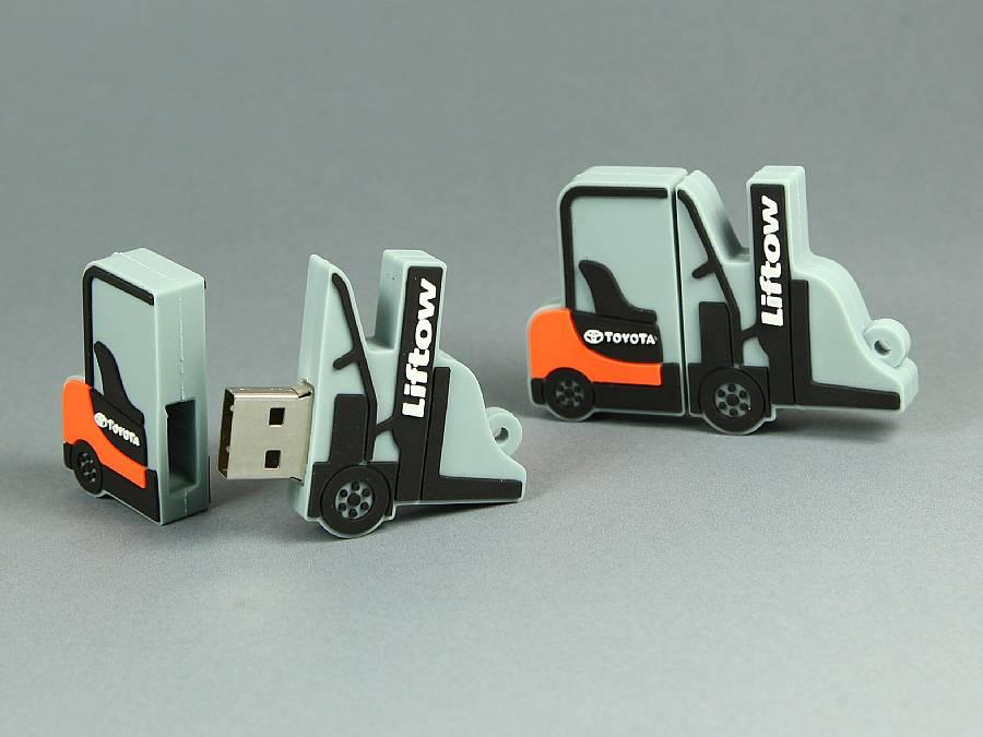 usb stick stapler fahrzeug individuell logo