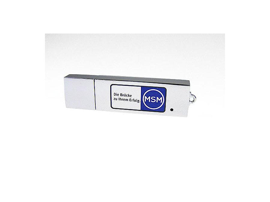 USB-Stick aus Metall mit zweifarbigem Druck