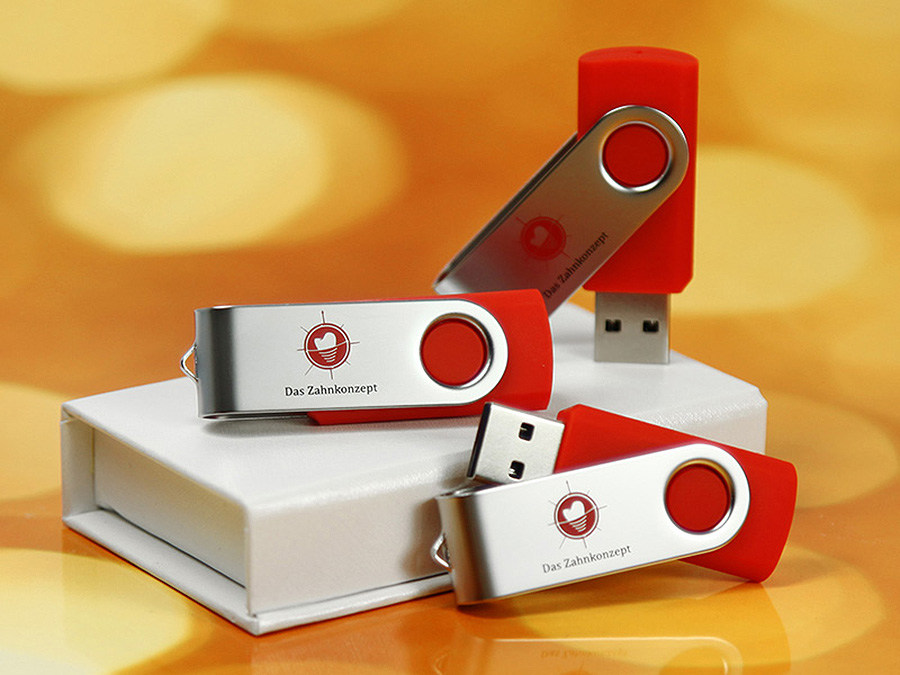 usb stick swing twister rot logo aufdruck