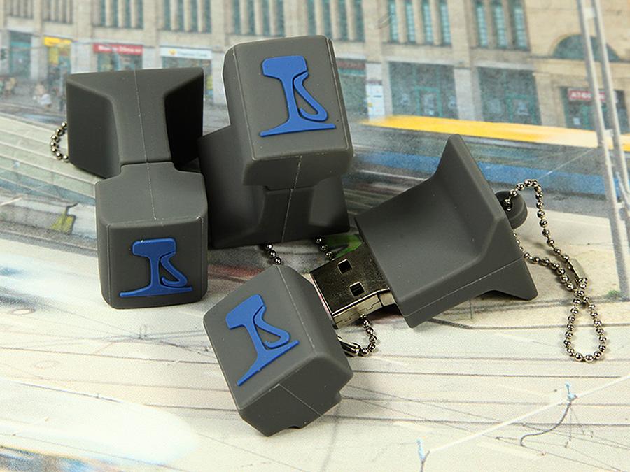 USB-Stick Bahnschiene Querschnitt