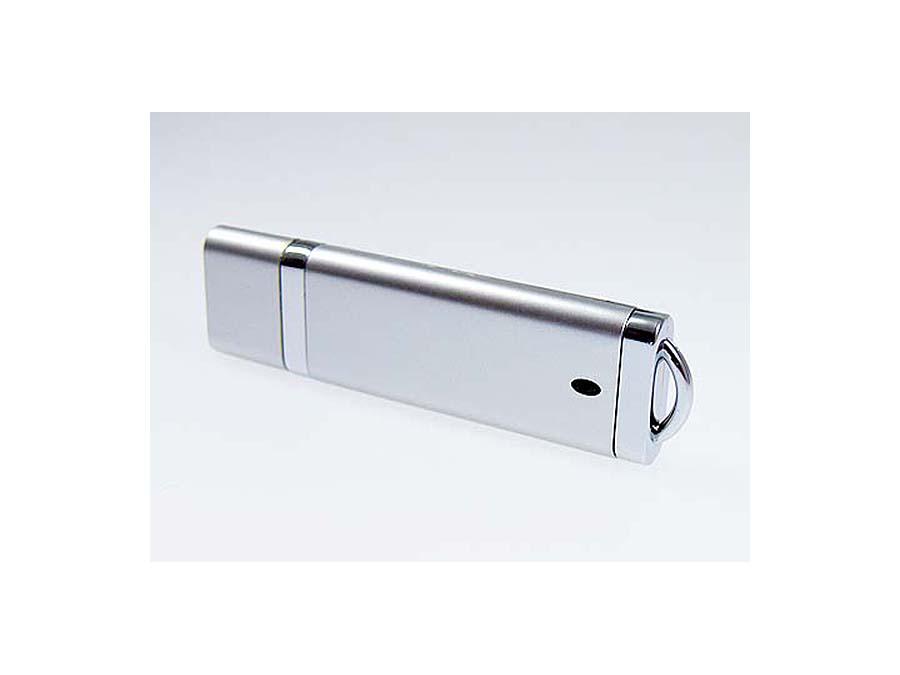 Verchromter Kunststoff USB-Stick mit Logodruck richtig billig