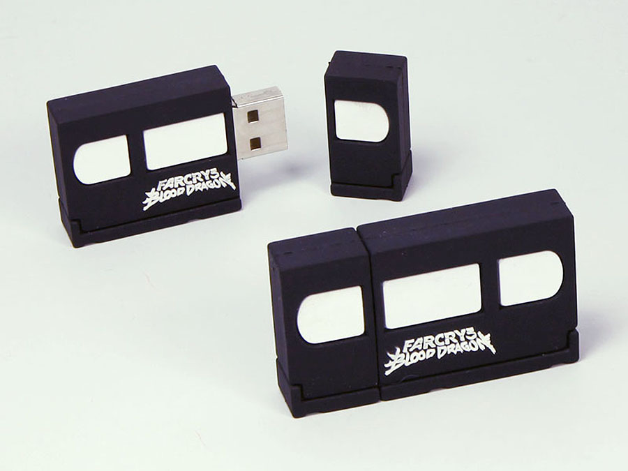 VHS Videokassette Reto Farcry Spiel mit Logo als USB-Stick in Sonderform