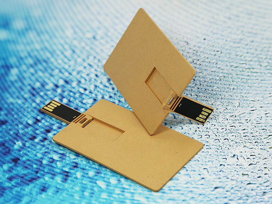 Visitenkarte USB-Stick aus umweltfreundlichen PLA Material