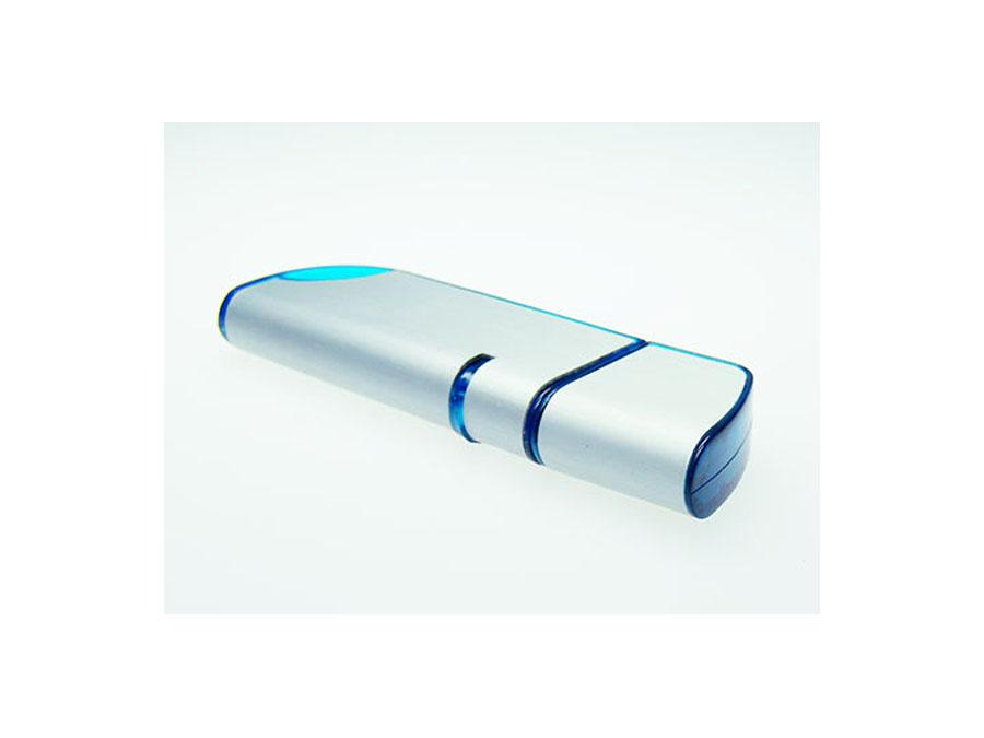 Werbeartikel USB-Stick aus Aluminium in blau
