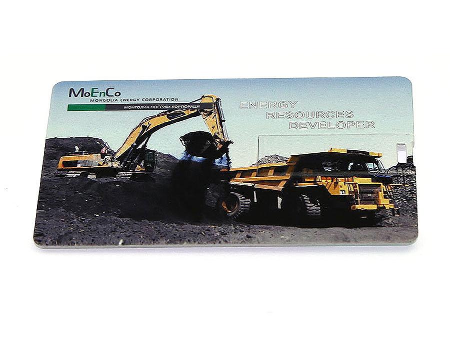 Werbeartikel usb stick visitenkarte mit moenco logo