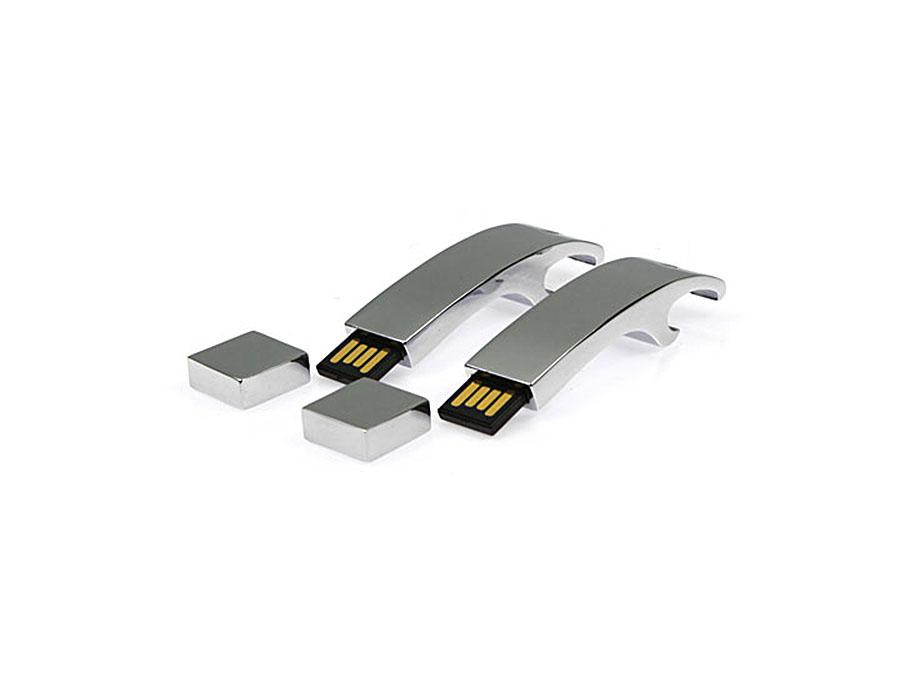 Werbegeschenk Flaschenöffner USB-Stick aus Metall mit Logo