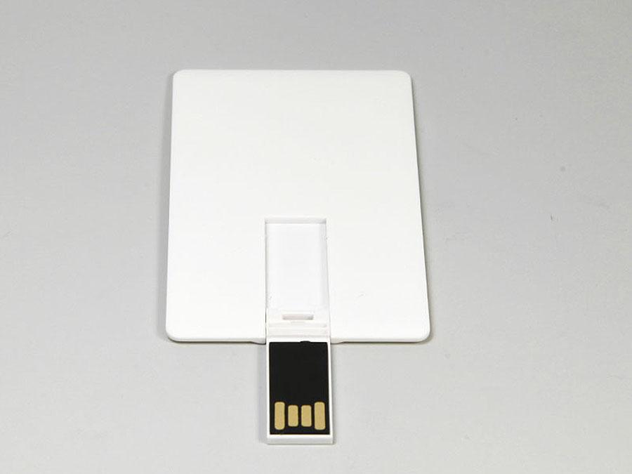 Werbegeschenk Karte mit USB-Stick mit großer Logofläche zum bedrucken
