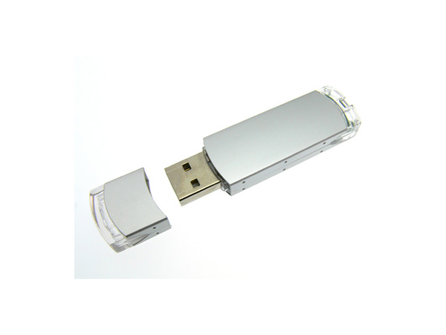 Werbemittel Metall USB-Stick mit transparenten Teilen