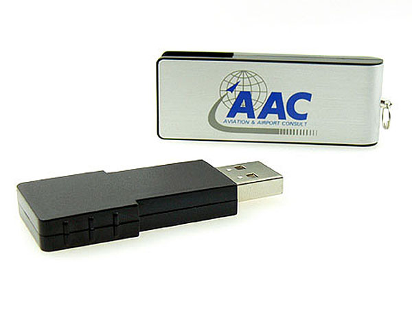 ALuminium USB-Stick in Metall-Dose mit Logo bedruckt