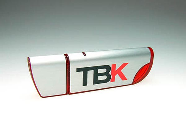 TBK Alu USB-Stick Rot Transparent