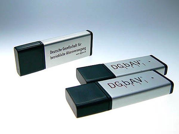 Deutsce Gsellschaft für betriebliche Altersvorsorge Metall USB-Stick mit Logo