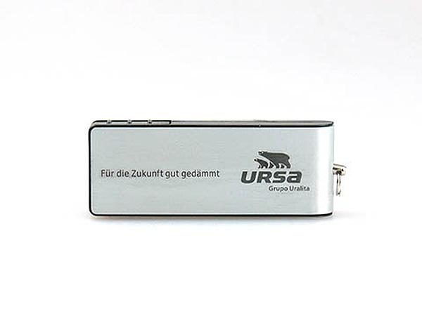 Aluminium-USB-Stick silber mit Logo bedruckt