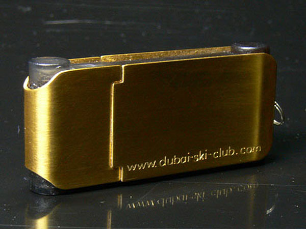 Echt Gold vergoldeter USB-Stick
