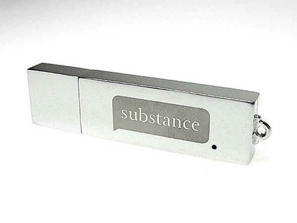 USB-Stick aus Metall mit Gravur als Werbegeschenk