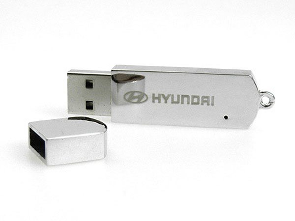 Vollmetall USB-Stick mit Deckel mit Logo Gravur