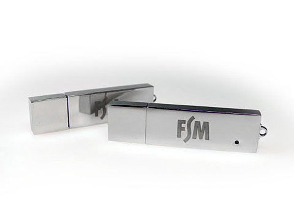 Massiver Metall USB-Stick graviert