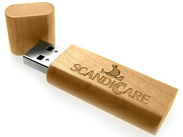 Holz-USB-Stick hochwertiges Werbegeschenk graviert