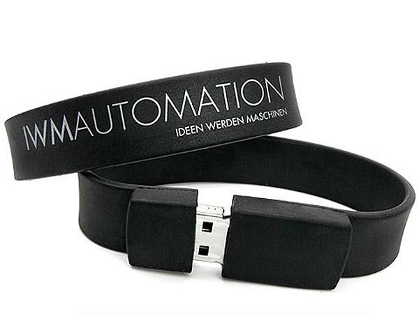 Werbeartikel Silikon Armband mit gedrucktem Logo