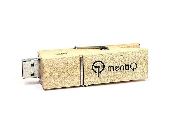 USB Wäscheklammer mit Logodruck als Werbeartikel