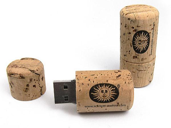 Öko USB-Stick aus Kork mit Logodruck